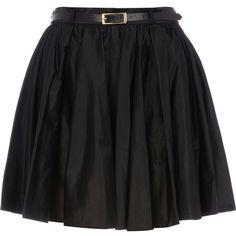 River Island Black full skater skirt ($12) ❤ liked on Polyvore featuring skirts, bottoms, saias, black, faldas, flared skirt, circle skirts, river island, cotton skirts and cotton skater skirt