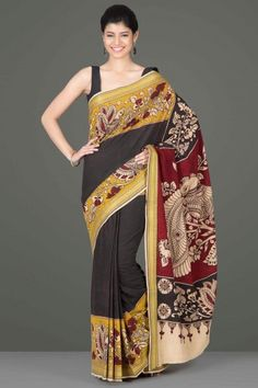 Kalamkari Kraft: Sarees by National Awardee M Vishwanath Reddy - Home Page…