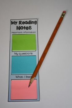 Sticky Note Bookmarks {great for close reading}