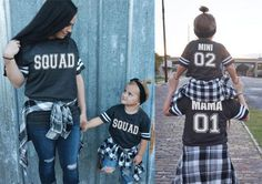Squad Mama Me Jersey Tees Mommy and Me by ShopLovebirdBoutique