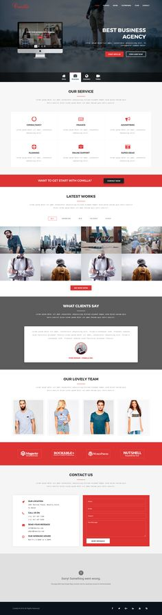 Comilla is Responsive Digital Agency Template fresh and clean Design. It makes for corporate/business websites, creative agencies and other businesses. It looks perfect on all major browsers, tablets and phones. Just take the best Template of your choice, change the text, add your images and done!