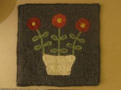 Easy Floral, pattern by Wendy Miller of The Red Saltbox.