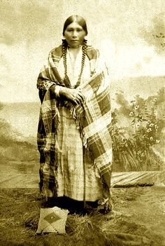 Nez Perce woman named Julia Gould, Camas Prairie, Idaho, ca. 1899