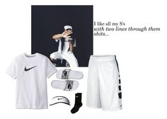 """""""Canceled out my ex, I put a line through that bish."""" by fshionkilla ❤ liked on Polyvore featuring NIKE"""
