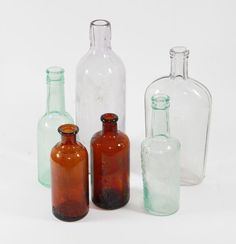 Instant Collection Of 6 Antique Bottles by BMTvintage