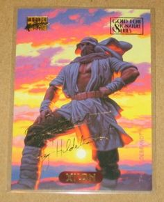 Marvel Masterpieces 1994 Gold-Foil Signature Parallel Card #139 Xi'an EX