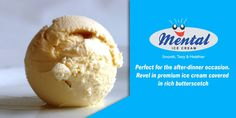 Perfect for the after-dinner occasion. Revel in premium ice cream covered in rich butterscotch. The perfect indulgence.