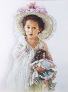 Sandra Kuck (American, Contemporary) Child with Doll Original