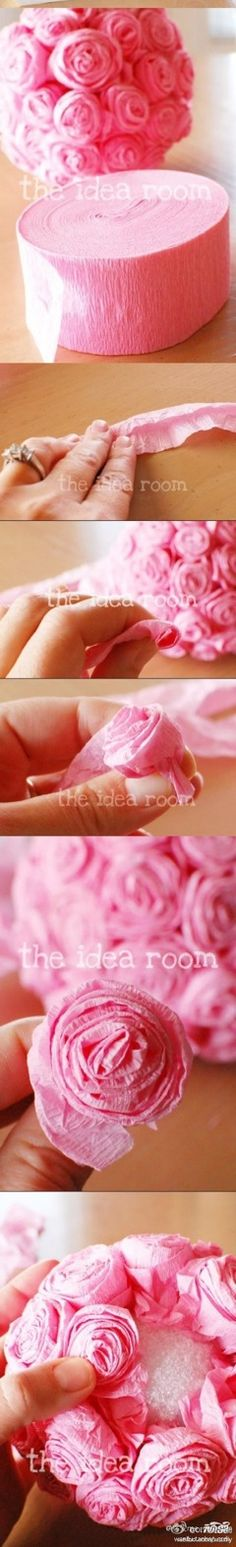 Tissue roses, I have so many cute ideas!