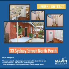 """""""Property For Sale-33 Sydney Street North Perth""""- This stylish tuck pointed character family home is located on a leafy street close to cafes and parks. It has easy access to the city with plenty of public transport options. You wouldn't need to break a sweat if you decide to move in as all the hard work is already done for you. To know more about this property click here: http://www.realestate.com.au/property-house-wa-north+perth-… Or contact Rasmus Nielsen at 0466725866 #PropertyForSale…"""