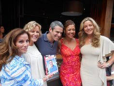 Andy Cohen with cast members of the Real Housewives of DC Bethesda Row, Andrew Cohen, Real Housewives, The Row, Lily Pulitzer, Fashion Show, It Cast, Dresses, Vestidos