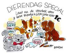 Dierendag special! Laat een voerbak bijschrijven voor €1,00. Actie loopt t/m vrijdag 23 september!