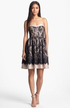 Wyton Strapless Lace Fit & Flare Dress available at #Nordstrom