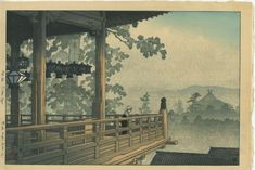 Artist: HASUI, KAWASE (1883-1957) Title: NIGATSU HALL, NARA Series: SCENIC VIEWS OF JAPAN II, KANSAI EDITION Dated: 1934 Publisher: Watanabe Seals: Watanabe and Sui