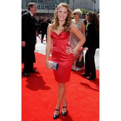 Emily Osment Red Sexy Party Dress 2008 Primetime Creative Arts Emmy Awards Red Carpet