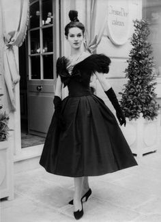 Circa 1958 - Yves Saint Laurent for Dior dress