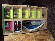Homemade Ice Fishing Stuff  Tip up organization