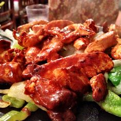 Flavorful chicken fajitas at Don Perico Mexican restaurant in Napa, CA.
