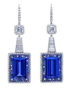 Bijoux Tanzanite, Bling Bling, Jewelry Accessories, Jewelry Design, Purple Sapphire, Sharon Stone, Fine Jewelry, Unique Jewelry, Jewelry