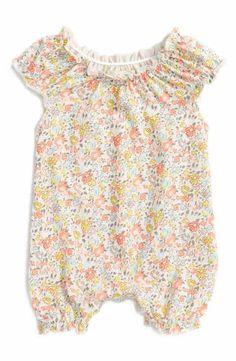 Peek Floral Ditsy Bubble Romper (Baby Girls)