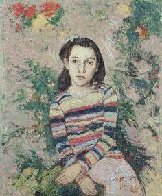 Gennadii Gogoliuk - A girl between flowers