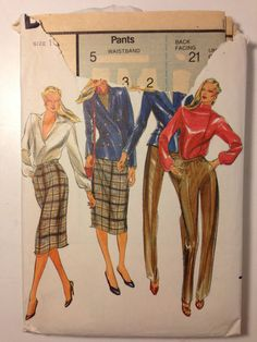 Butterick Sewing Pattern 3302 80s Misses Jacket by SplashOfLuv