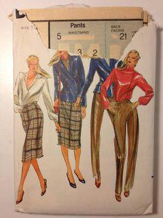 Butterick Sewing Pattern 3302 80s Misses Jacket by SplashOfLuv