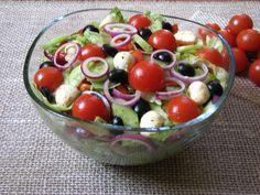 Wspaniała sałatka do grilla,obiadu lub na kolację.Jest lekka i smaczna.Polecam!!!! Happy Foods, Fruit Salad, Mozzarella, Grilling, Sport, Projects, Log Projects, Fruit Salads, Deporte