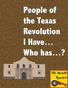 Teaching In The Fast Lane: How I Teach It: The Texas Revolution