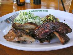 Rutherford Grill  - best ribs and cornbread ever