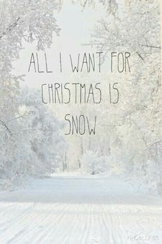 All I want for Christmas is snow ❄