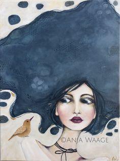 Acrylic on canvas By Anja Waage