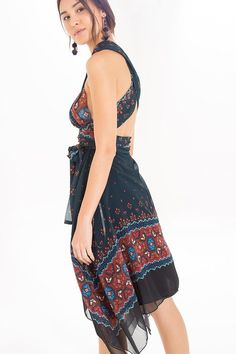 vestido curto pontas libali