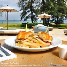 Renaissance Club Sandwich at Sand Box Restaurant, Renaissance Phuke Resort & Spa