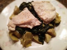 Chicken over Spinach and Artichokes: 10/3/13