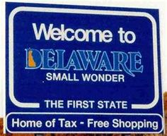Delaware, another of the New England states I hope to visit when the leaves are changing...and Indian Summer wouldn't be bad either!  Hmmmm...home of tax free shopping, wonder if that's tax free seafood, too?