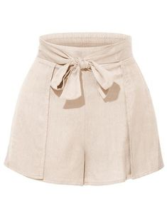 These breathable linen high waisted striped shorts with belt are so on trend! The clean, sophisticated cut on these shorts with paperbag style on waist with cute self bow tie belt makes it perfect for day or night. Wear it with a loose blouse or crop tops for a complete look. Feature 60% Cotton / 40% Polyester Lightweight, soft, breathable linene cotton fabric for all day comfort High waisted / Paperbag style on waist with self bow tie belt / 2 Pockets for convenience / Zi...
