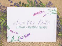 """Save+the+Date+Karte+""""Lavendel""""+von+Grüne+Hochzeiten+++Feste+auf+DaWanda.com"""