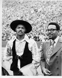 Jesse Jackson and Marvin Gaye. Outfits for days.