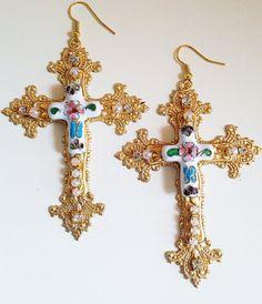 Beautiful Byzantine Cloisonne Earrings from Etsy Seller: ThePrancingFox: US$98