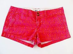 American Eagle Outfitters Shortie Stretch Booty Shorts Tribal Aztec Print Size 4