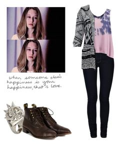 """""""Violet Harmon - ahs / american horror story"""" by shadyannon ❤ liked on Polyvore featuring ONLY, Alexander McQueen, Free People, Vero Moda and F-Troupe"""