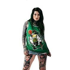 """Corvid Celtics"" Mesh Basketball Tank Top available at www.crmc-clothing.co.uk | WE SHIP WORLDWIDE Model - @lusylogan Photography by @jt14photography #tattooedbeauty #tattooedwomen #girlswithtattoos #tattooedmodels #tattooedmodel #tattooedchicks #lusylogan #love #beautiful #tattooartist #greenhair #tattoos #tattooed #nba #basketball #bostonceltics #altmodel #instafashion #altchick #alternative #alternativegirl #alternativeboy #alternativeteen #cute #sweetheart #babe #green #tanktop…"