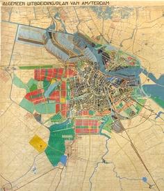 Algemeen Uitbreidingsplan of Amsterdam by Van Eesteren (1935)