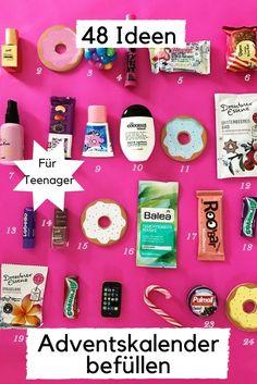 Adventskalender Inhalt für Teenager Mädchen / Ideen zum Befüllen https://www.minimenschlein.de/minimenschlein/48-ideen-fuer-den-adventskalender-das-kommt-bei-uns-in-die-tuete