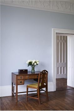 Farrow and Ball colours: Skylight and Wimborne White