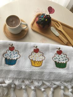 This Pin was discovered by Nil Cross Stitch Embroidery, Embroidery Patterns, Cross Stitch Patterns, Crochet Patterns, Small Cross Stitch, Cross Stitch Kitchen, Stitch Cartoon, Stitch 2, Diy And Crafts