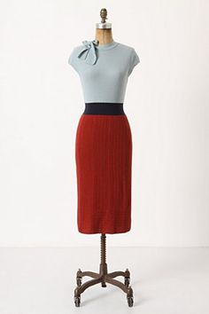 Anthro tie-neck knitted dress