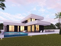 Render of one of my latest concept villa designs in Cosat Blanca, Spain.