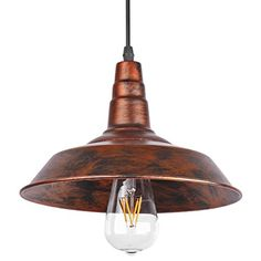 ONEVER ndustrial Retro Vintage Loft Wall Coffee Bar Lighting Fixtrure Sconce Pendant Ceiling Lamp Fixtures Light Shades for E27 Edison BulbsBrown bulb is not included ** You can get additional details at the image link.